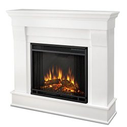 Real Flame Chateau Electric Fireplace in White, Small