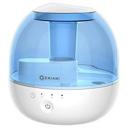 GENIANI 2 L Ultrasonic Cool Mist Humidifier with Timer – Best Air Humidifiers for Bedroom/ ...