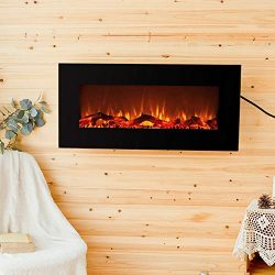 FLAME&SHADE Electric Fireplace Indoor Space Heater On Wall Hanging or Freestanding 10 Realis ...