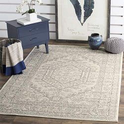 Safavieh Adirondack Collection Ivory and Silver Oriental Vintage Medallion Area Rug (6′ x  ...