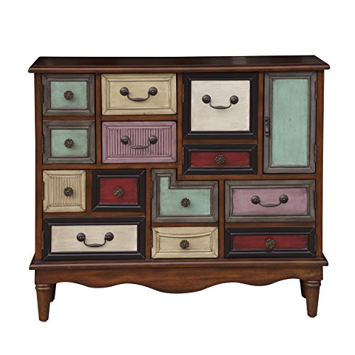 Accentrics Home Warm Brown Eclectic Six Door And Two Drawer Accent Chest Dark – Wood