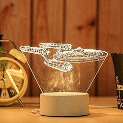 Anboo 3D Unique Creative Acrylic Night Light Fairy Light USB LED Table Desk Bedroom Decor Gift W ...
