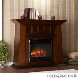 Southern Enterprises Laslo Electric Fireplace
