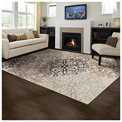 Superior Elegant Leigh Collection Area Rug, 8mm Pile Height with Jute Backing, Chic Contemporary ...