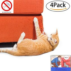 PetIsay Plastic Cat Scratching Furniture Protector Clawing Protection Guard Repellent for Fabric ...