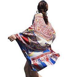 Womens Scarf Wraps Shawl Oversized Bohemian Soft Blanket 75″x 40″-Boho Throw Blanket ...