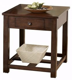 Ashley Furniture Signature Design – Marion Rectangular End Table – 1 Drawer –  ...