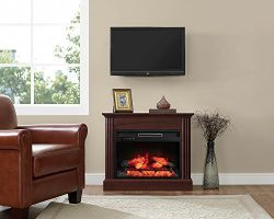 Whalen Furniture FP32EC23I-1BC Fully Assembled Chesapeake Mantel Electric Fireplace, Brown Cherr ...