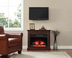 Whalen Furniture FP32EC23I-1BC Fully Assembled Chesapeake Mantel Electric Fireplace, Brown Cherr ...