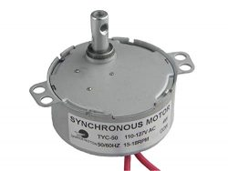 CHANCS TYC-50 Small Synchronous Motor 110V AC 15-18RPM Shaft Rotation CCW 4W Gear Motor For Elec ...