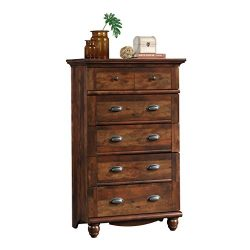 Sauder 420465 Harbor View 5-Drawer Chest L: 31.02″ x W: 17.64″ x H: 49.72″ Cur ...