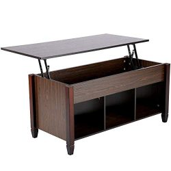 Yaheetech Wood Lift-Top Coffee Table with Hidden Compartment Home Living Room Furniture, 41.1&#8 ...