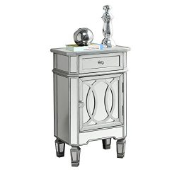 Candace & Basil Mirrored Accent Chest – Silver