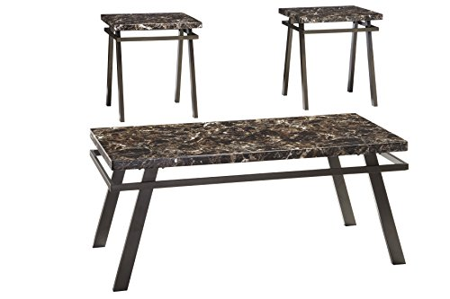Ashley Furniture Signature Design – Paintsville Occasional Table Set – Contains Cock ...