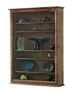 Curio Wall Cabinet- Solid Walnut Hardwood