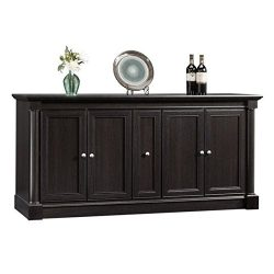 Sauder 417728 Palladia Entertainment Credenza Wind Oak Finish for TVs up to 70″