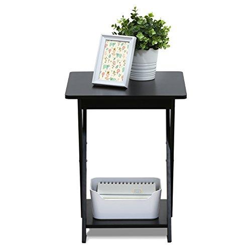 Furinno 16050EX Modern Simplistic End Table, Espresso