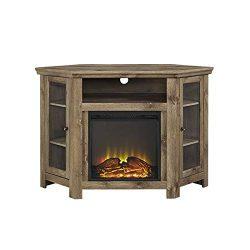 W. Designs Walker Edison Jackson Collection W48FPCRBW 48″ Wood Corner Media TV Stand Conso ...