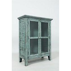 Jofran: 1615-32, Rustic Shores, Accent Cabinet, 32″W X 15″D X 42″H, Vintage Bl ...