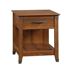 Sauder 413350 Carson Forge Smartcenter Side Table L: 22.09″ x W: 25.59″ x H: 24.57&# ...