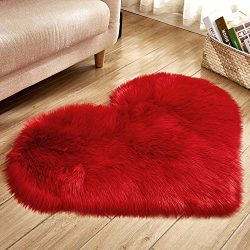 Hot Sale!DEESEE(TM)Wool Imitation Sheepskin Rugs Faux Fur Non Slip Bedroom Shaggy Carpet Mats (G)