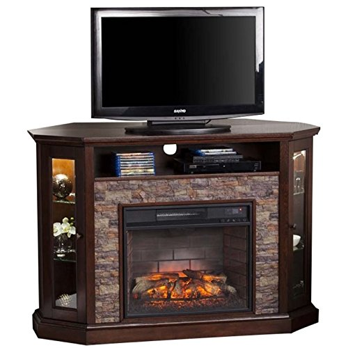 Southern Enterprises Rollins Convertible Corner Infrared Electric Media Fireplace 52″ Wide ...