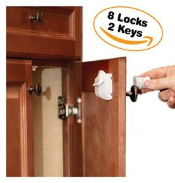Cabinet Locks Child Safety By Emee Baby, Magnetic, Hidden, Under Cabinet, Keep Kids Safe And Sec ...