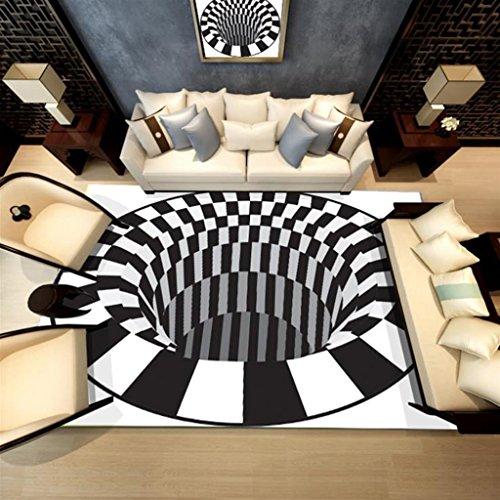 LIU RUOXI Rug 3D Printing Carpet Outdoors Carpet Picnic Mat Living Room Carpet Bathroom Carpet,1 ...