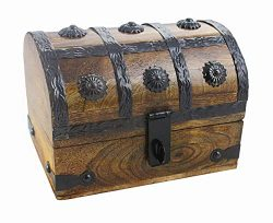 Well Pack Box Medium Treasure Chest Wood Keepsake Jewelry Box Toy Treasure Box 6.5x5x4.5