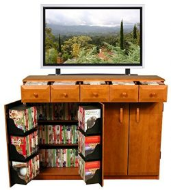 Venture Horizon Media Cabinet With Drawers- Cherry