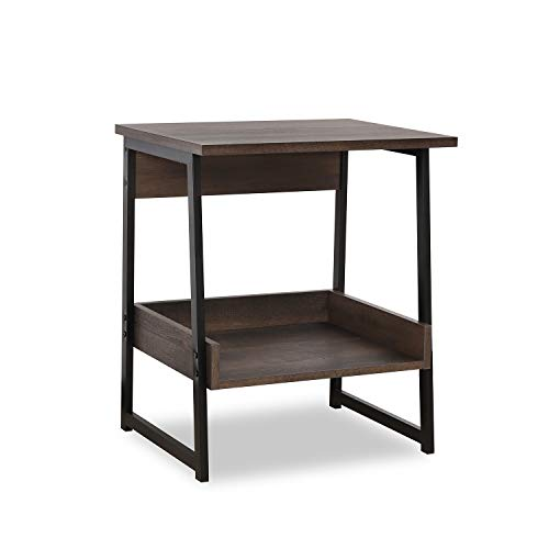 Sekey Home End Table, 2-Tier Side Table with Storage Shelf, Sturdy and Easy Assembly, Wood Look  ...