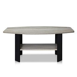 Furinno 11179GYW/BK Coffee Table French Oak Grey/Black