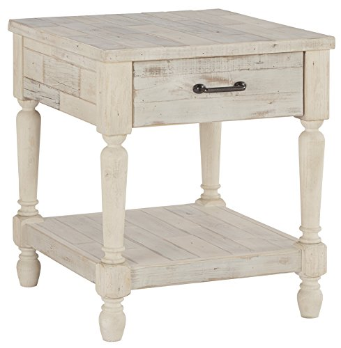 Ashley Furniture Signature Design – Shawnalore Casual Rectangular End Table with Storage & ...