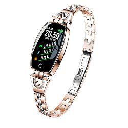 LiPing H8 Color Screen Blood Pressure/Heart Rate Monitor Smart Bracelet Watch Pedometer (Rose Gold)