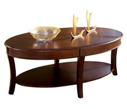 Steve Silver Company Troy Cocktail Table, 48″ W x 28″ D x 20″ H