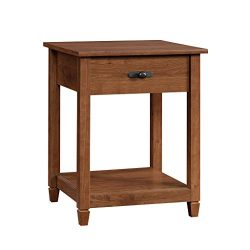 Sauder 419400 Edge Water Side Table L: 19.45″ x W: 18.50″ x H: 24.29″ Auburn C ...