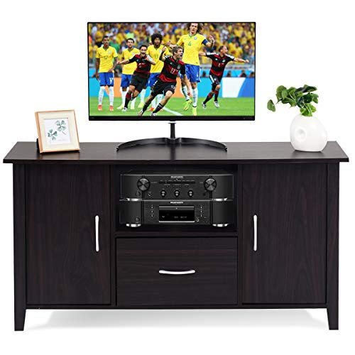 Tangkula Modern TV Stand Wooden Multipurpose Home Furniture Storage Console Cabinet Entertainmen ...