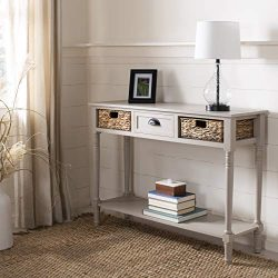 Safavieh AMH5737D American Homes Collection Christa Console Table with Storage, Vintage Grey