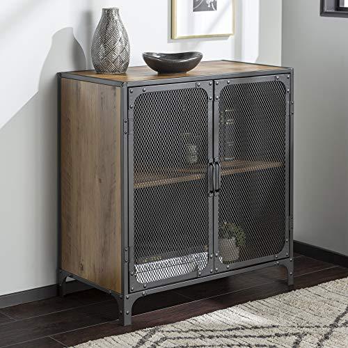 WE Furniture AZF30SOICRO Accent Console, 30″, Rustic Oak