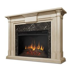 Real Flame 8030-WW Maxwell Grand Electric Fireplace, Large Whitewash