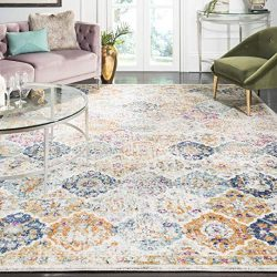 Safavieh Madison Collection MAD611B Cream and Multicolored Bohemian Chic Distressed Area Rug (9& ...