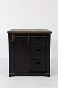 Jofran Madison County 32″ Barn Door Accent Cabinet/Vintage Black