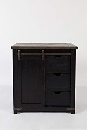 Jofran Madison County 32″ Barn Door Accent Cabinet/Vintage Black
