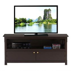 Yaheetech X Shape TV Stand Base Console Storage Cabinet Home Media Entertainment Center with 2 D ...