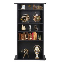 Nova Microdermabrasion Adjustable Media Storage Tower(DVD,CD,Games), 5-Tier Wooden Media Stora ...