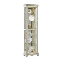 Pulaski P021595 Single Side Entry Curio Cabinet, White