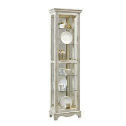 Pulaski P021595 Single Side Entry Curio Cabinet, White