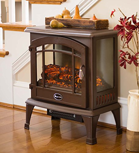 Panoramic Quartz Infrared Stove Heater Bronze