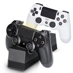 PS4 Controller Charger, Megadream Fast USB Charging Docking Station Solid Stand for Sony Playsta ...