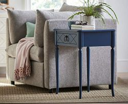 Young House Love 811B811 X-Front Accent End Table Blue